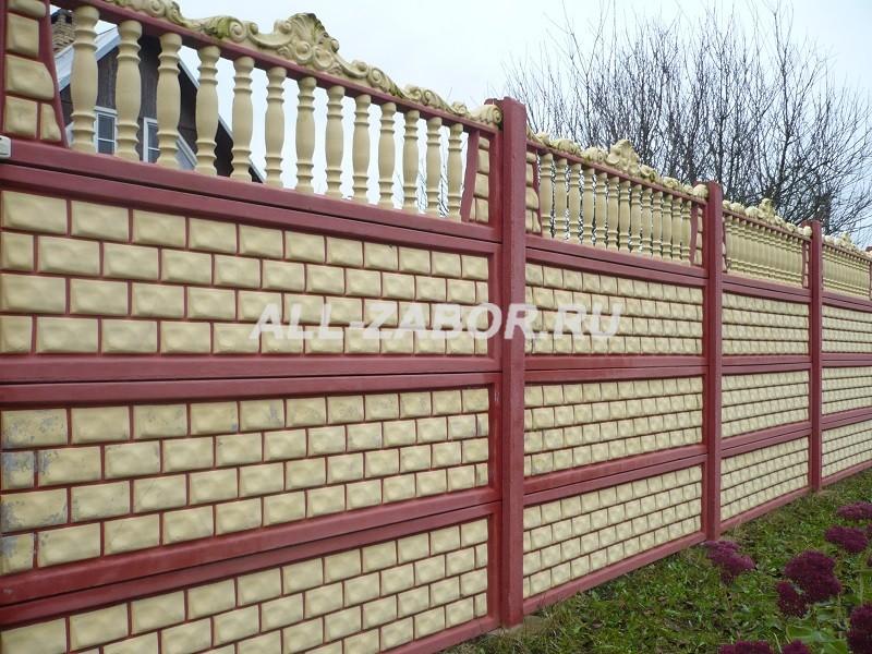 купить забор из бетона тюмень